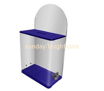 Custom and wholesale acrylic charity boxes cheap DBK-140