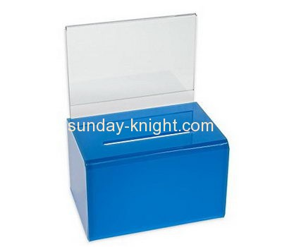 Custom and wholesale acrylic lockable donation boxes DBK-148