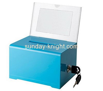 Customized acrylic office suggestion box DBK-152