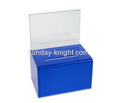 Customized acrylic company suggestion box DBK-153
