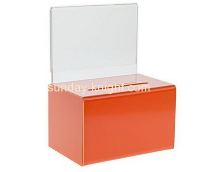 Customized acrylic cheap charity collection boxes for sale DBK-161