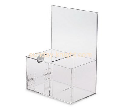 Customized acrylic locked donation boxes DBK-166