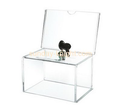Customized acrylic charity display boxes DBK-168