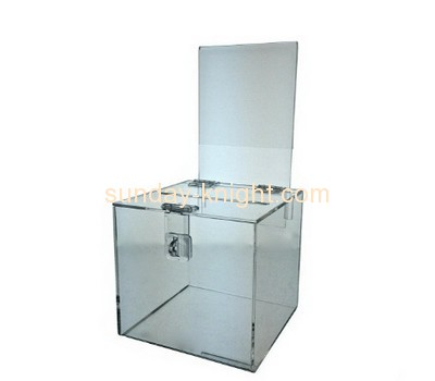 Customized acrylic fundraising collection boxes DBK-182