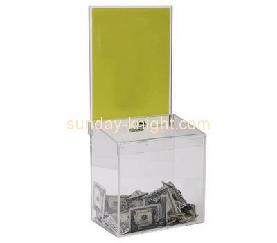 Customized acrylic donation collection box DBK-184