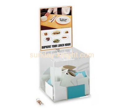 Customized perspex cheap charity boxes DBK-189