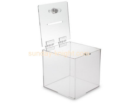 Customized acrylic fundraising boxes DBK-190