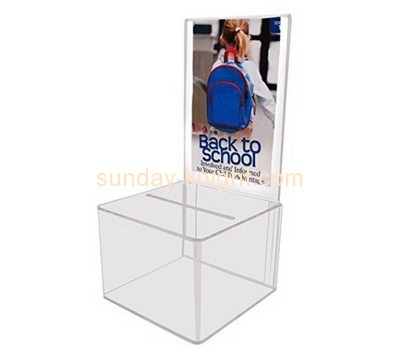 Customized perspex clear suggestion box DBK-194