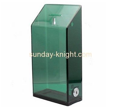Customized perspex fundraising collection boxes DBK-223