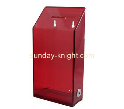 Customized perspex charity collection boxes for sale DBK-225