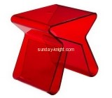 Bespoke red acrylic coffee table with storage AFK-101
