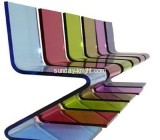 Bespoke acrylic z shaped chair AFK-177