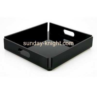 Bespoke black lucite desk tray STK-047