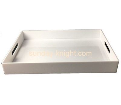 Bespoke white acrylic catering serving trays STK-058