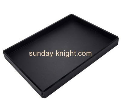 Bespoke black acrylic large serving tray STK-084