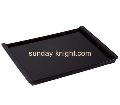 Bespoke black acrylic oversized serving tray STK-090