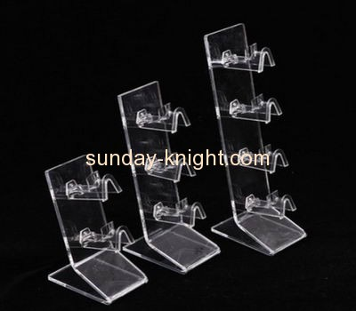 Bespoke tiered acrylic eyeglasses display rack SDK-049