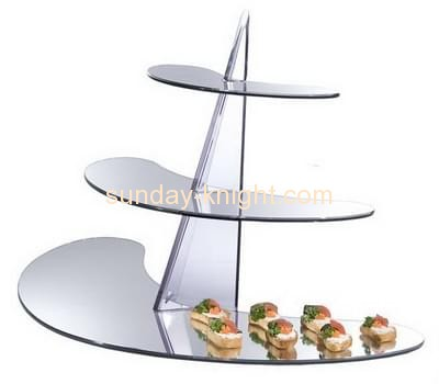 Bespoke acrylic cheap cake display stands FSK-091