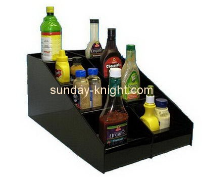 Bespoke black acrylic coffee condiment organizer for home FSK-144