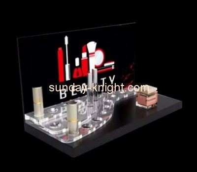 Customize plexiglass cosmetic counter display MDK-229