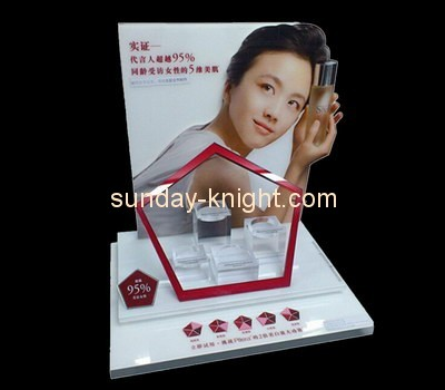 Customize shop acrylic cosmetic display stand MDK-268