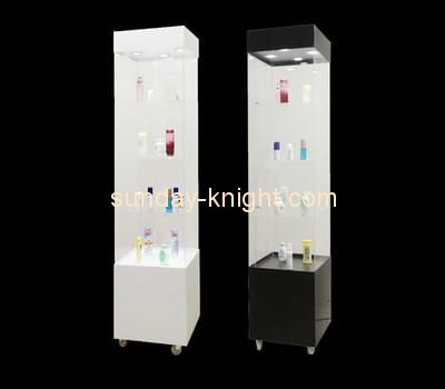 Customize acrylic tall corner display cabinet MDK-296