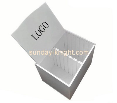 Customize acrylic 2 compartment box DBK-656