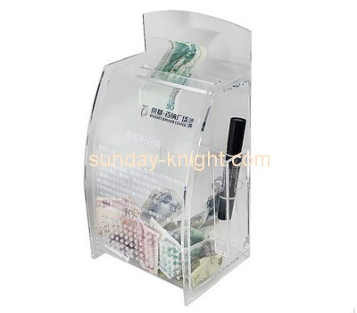 Customize acrylic cash donation box DBK-747