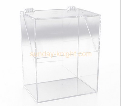 Customize clear acrylic box with hinged lid DBK-795