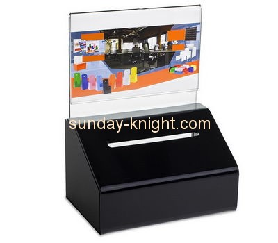 Customize black money donation box DBK-848