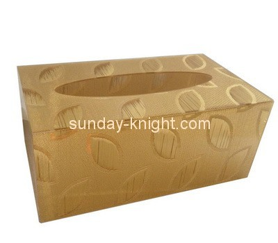 Customize acrylic cool tissue box cover DBK-869