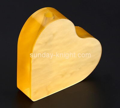 Customize acrylic heart shaped vase ODK-728
