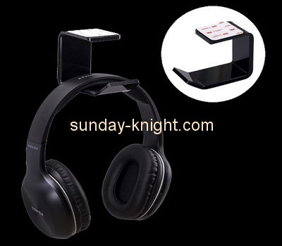 Customize acrylic wall mounted headphone stand ODK-791