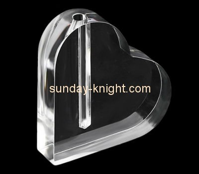 Customize acrylic heart shaped vase ODK-821