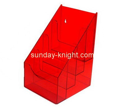 Customize acrylic tiered literature holder BHK-563