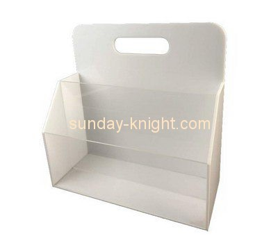 Customize acrylic white magazine holder BHK-570