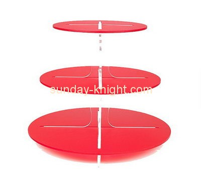 Customize acrylic tiered cake display stands FSK-160