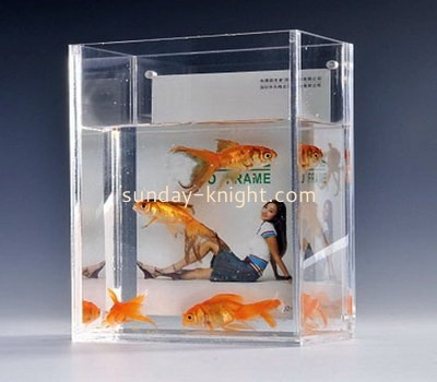 Square acrylic fish tank with picture frame FTK-005