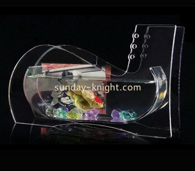 Transparent lucite fish bowl with photo insert FTK-012