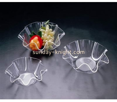 Transparent acrylic display plate for fruit AHK-012