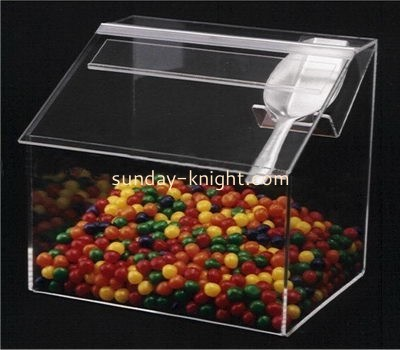 Transparent acrylic roof shape display box for candy FSK-021