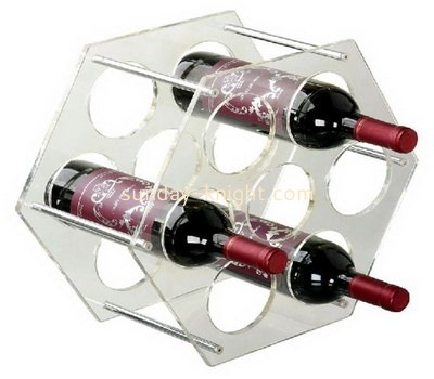 Clear lucite hexagon wine bottle holders WDK-022