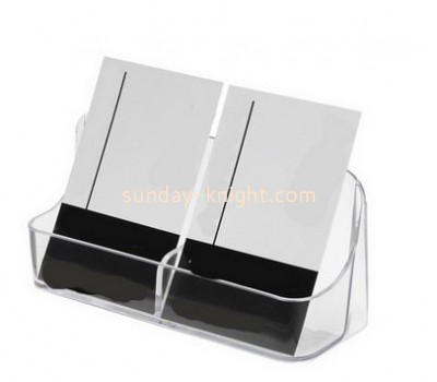 2016 new design acrylic business card holder or name card holder box with divider BHK-026