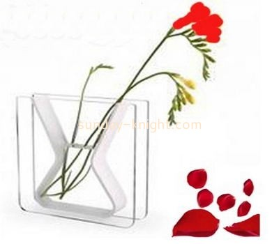 Top quality rectangle large acrylic vase AHK-035
