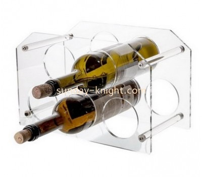Factory hot selling acrylic bottle holder wine bottle display rack wine display stand WDK-043