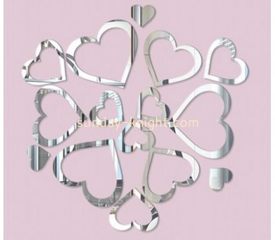 Custom design acrylic wall sticker mirror sticker acrylic mirror decoration sticker MAK-003