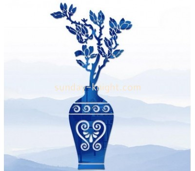 Wholesale acrylic mosaic mirror vase wall sticker made in china design decorative wall mirror MAK-064