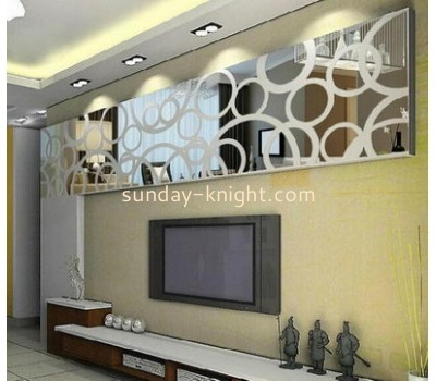 Wholesale acryl sticker large wall mirror sticker for decorate wall MAK-082