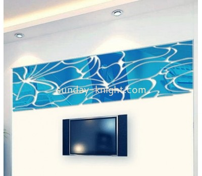 Wholesale acrylic wall sticker decoration antique mirror tiles mirror decorative wall sticker MS-093