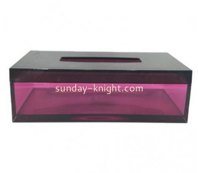 Custom design acrylic tissue paper box design small acrylic box acrylic storage box DBK-066